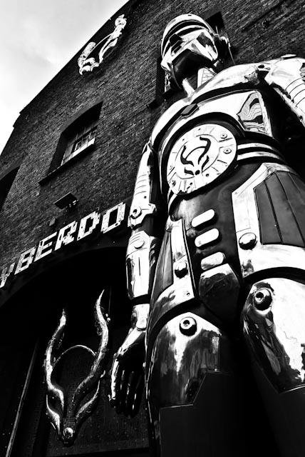 B&W photograph of Cyberdog in London