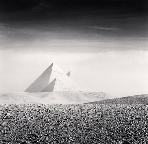 Giza pyramids, study 3, Cairo, Egypt. (c) Michael Kenna, 2009