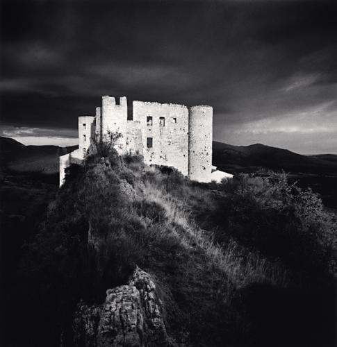 Le Chateau, Bargème, France. (c) Michael Kenna, 1996.