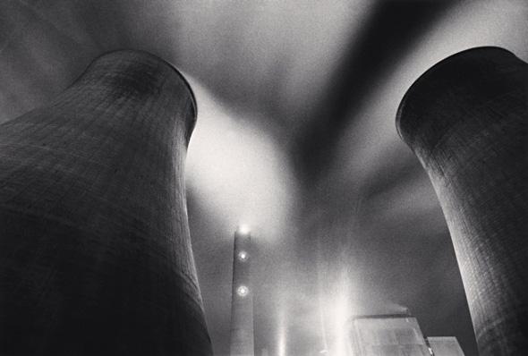 Ratcliffe power station, study 28, Nottinghamshire, Engalnd. (c) Michael Kenna, 1987.